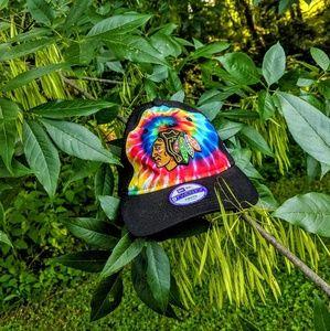 Tie Dye Chicago Blackhawks Youth Hat